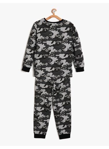 Koton Kids Pijama Takım Antrasit